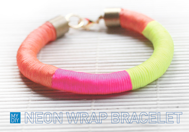 MY DIY | Neon Wrap Bracelet