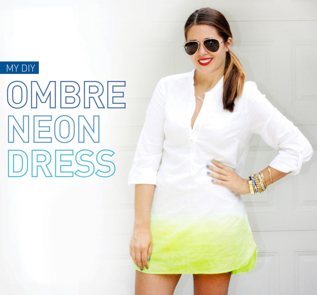 My DIY | Ombre Neon Dress