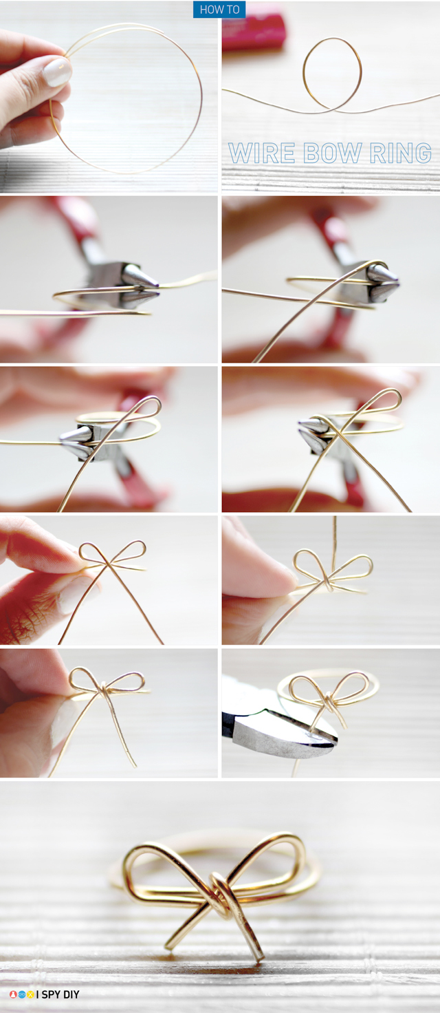 my diy wire bow ring Basic Electrical Wiring Outdoor diy project, jewelry diy