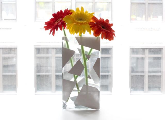My Diy Striped Painted Vase