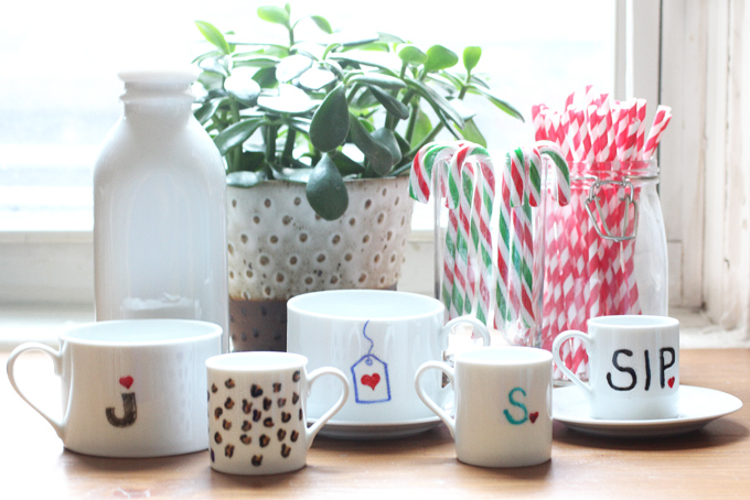 HOLIDAY PARTY | DIY Mugs