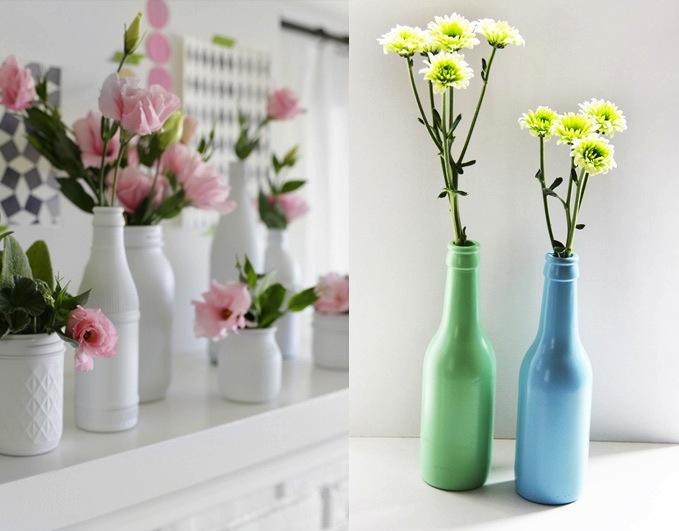 Home Inspiration Painted Bottle Vase