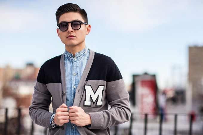 GUY DIY | Varsity Cardigan