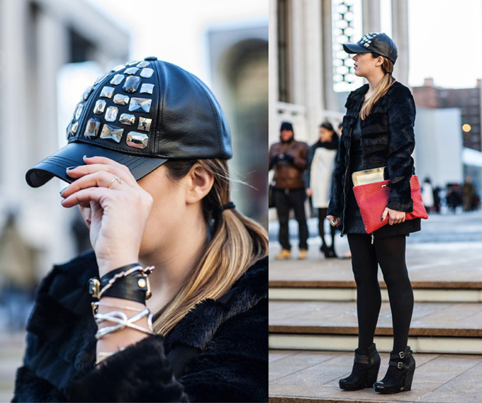 MY DIY | Bedazzled Leather Cap