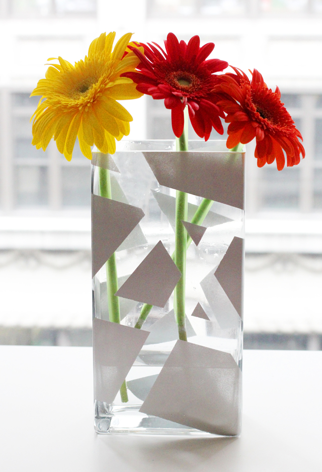 My Diy Striped Painted Vase