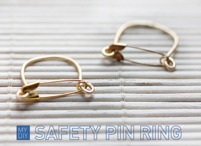 My DIY | Safety Pin Ring