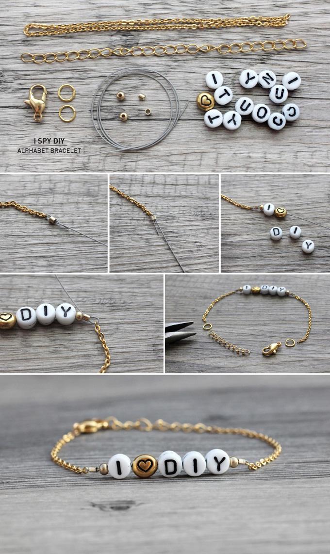 My Diy Alphabet Bracelet