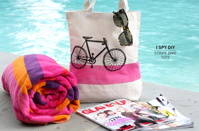 MY DIY | Stripe Bike Tote