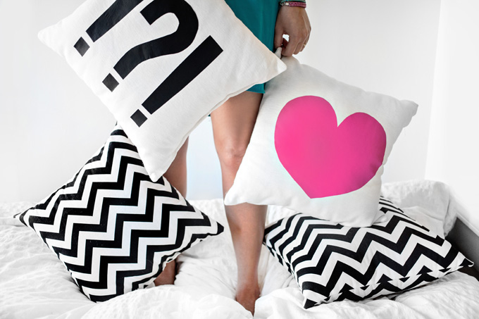 MY DIY | Heart & Punctuation Pillow