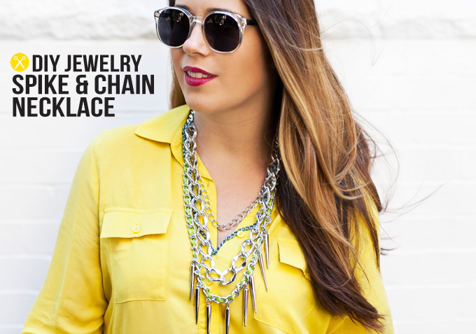 MY DIY | Layered Chain & Spike Necklace