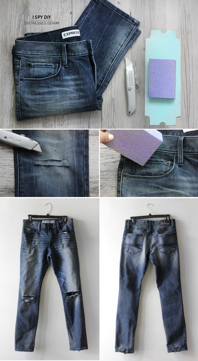 MY DIY I Distressed Denim