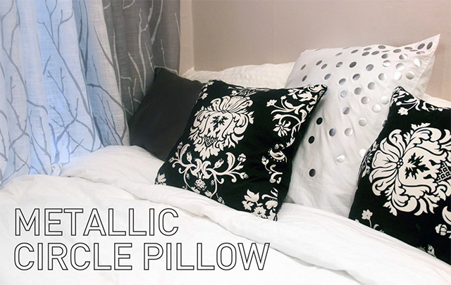 Home DIY | Metallic Circle Pillow