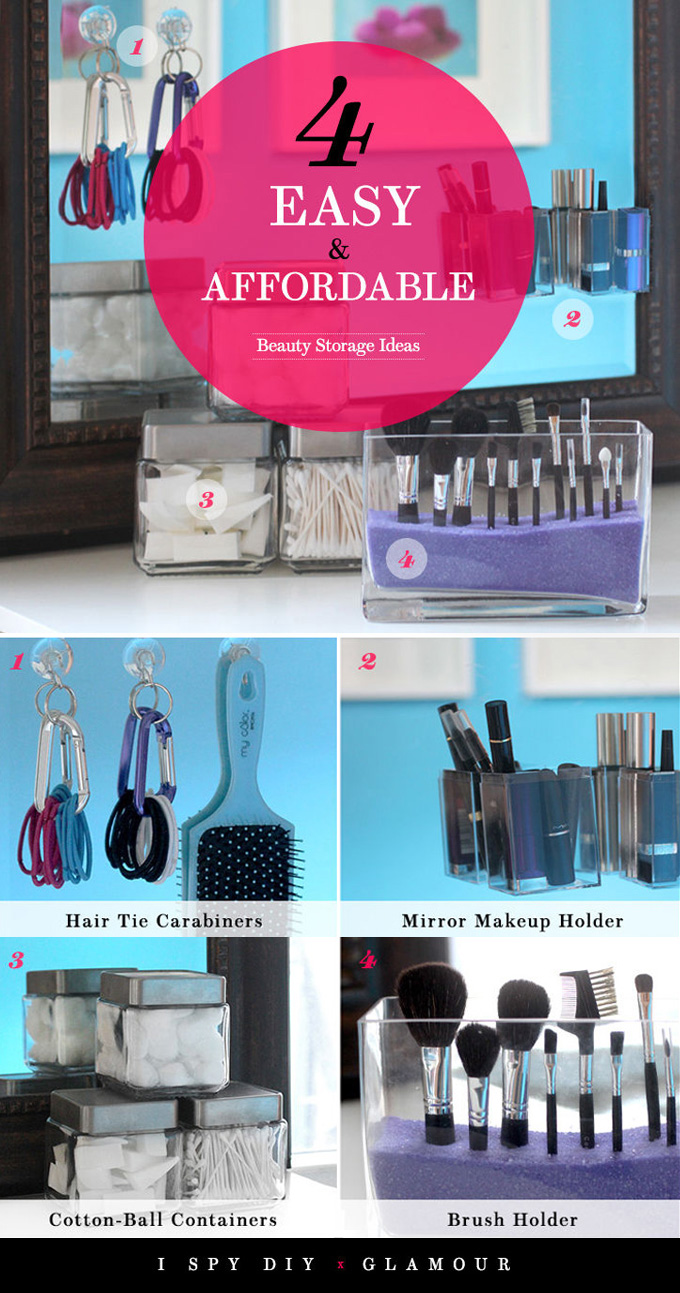 DIY BEAUTY | Storage Ideas for Glamour.com