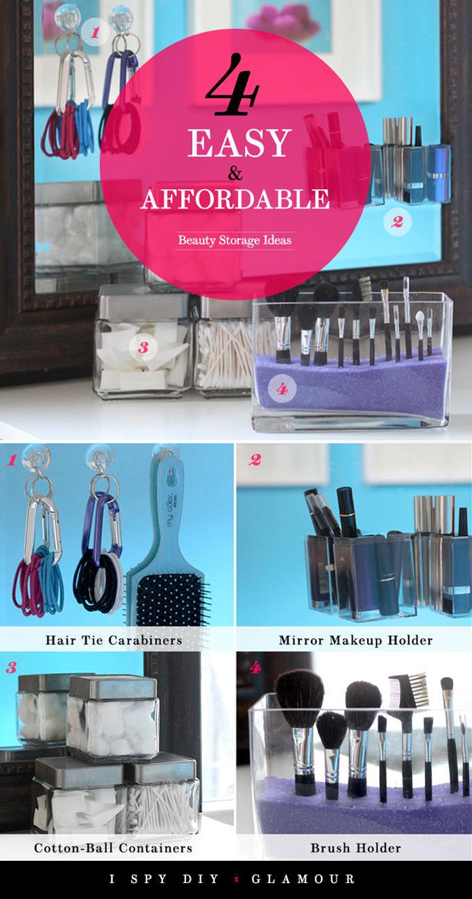 » DIY BEAUTY | Storage Ideas for Glamour.com