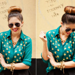 My DIY | Polka Dot Shirt