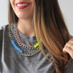 MY DIY | Rhinestone & Neon Necklace