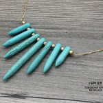 MY DIY | Turquoise Spike Necklace