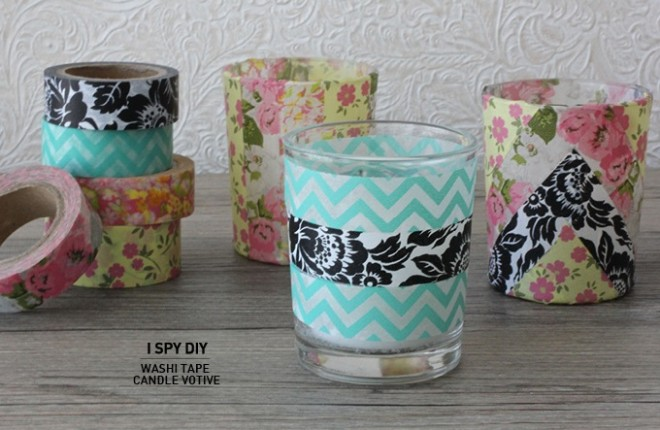 QUICK DIY | Washi Tape Candle Votive