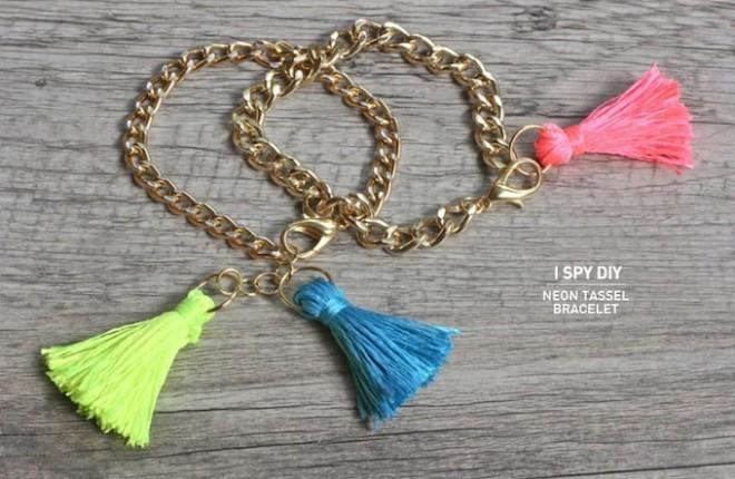 MY DIY | Neon Tassel Bracelets