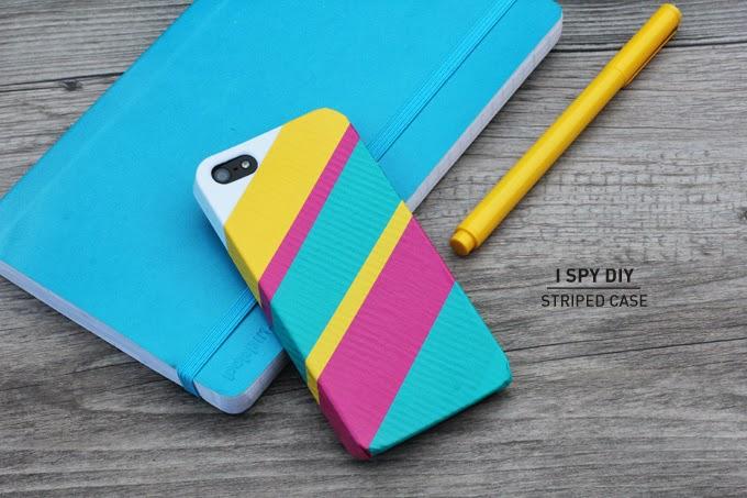 » MY DIY | Striped iPhone Case