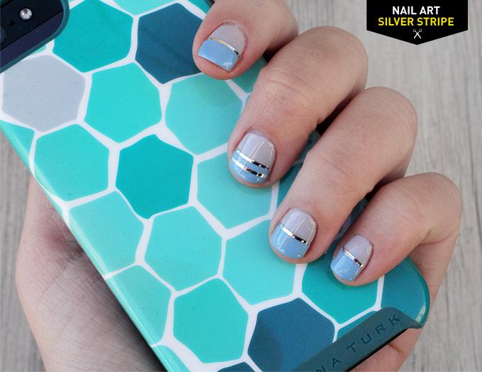 187 Diy Nail Art Silver Stripe