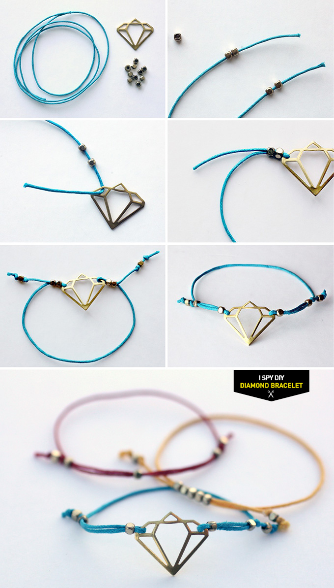 my diy diamond bracelet i spy diy bloglovin. Black Bedroom Furniture Sets. Home Design Ideas