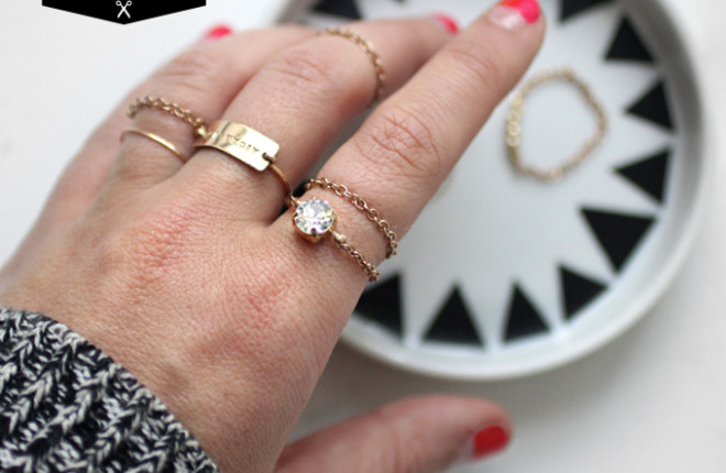 MY DIY | Delicate Chain Ring
