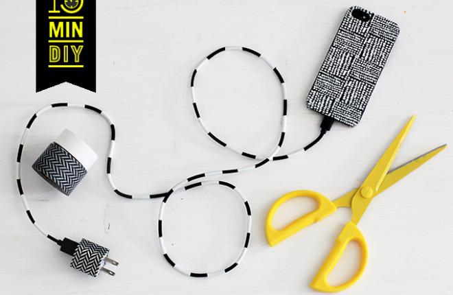 15 MIN DIY | B&W Cord