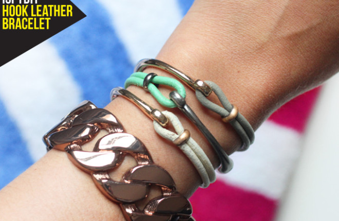 MY DIY | Leather Hook Bracelets