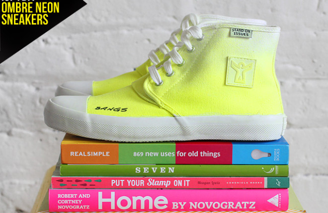MY DIY | Ombre Neon Sneakers