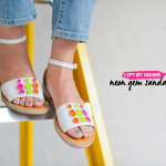 MY DIY | Neon Gem Sandals