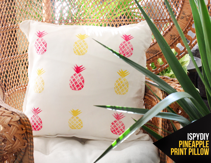 MY DIY | Pineapple Print Pillow