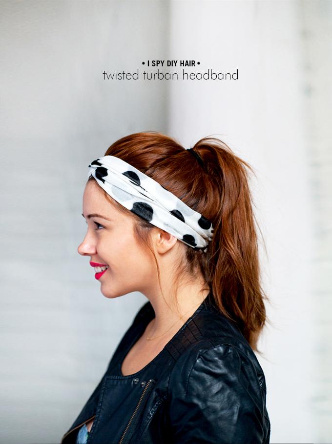 My Diy Twisted Turban Headband I Spy Diy Bloglovin