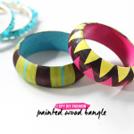 MY DIY | Painted Wood Bangle