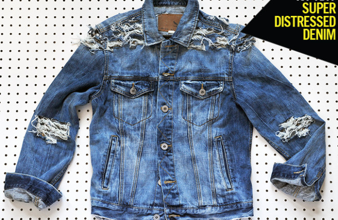MY DIY | Super Distressed Denim Jacket