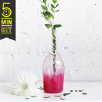 5 MIN DIY | Ombre Bottle Vase