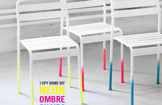 MY DIY | Neon Ombre Chairs
