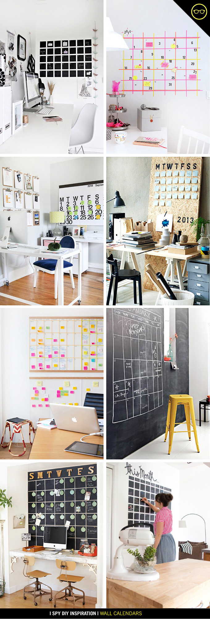 Diy Large Wall Calendar : Diy inspiration wall calendar i spy lovin