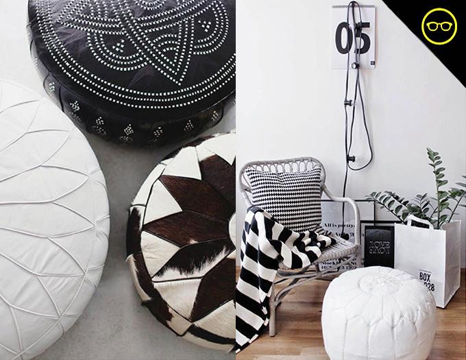 DIY INSPIRATION | B&W Poufs