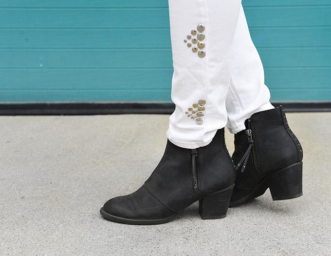 MY DIY | Triangle Studded Jeans