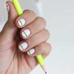 NAIL ART | Black & Neon Accent Stripe