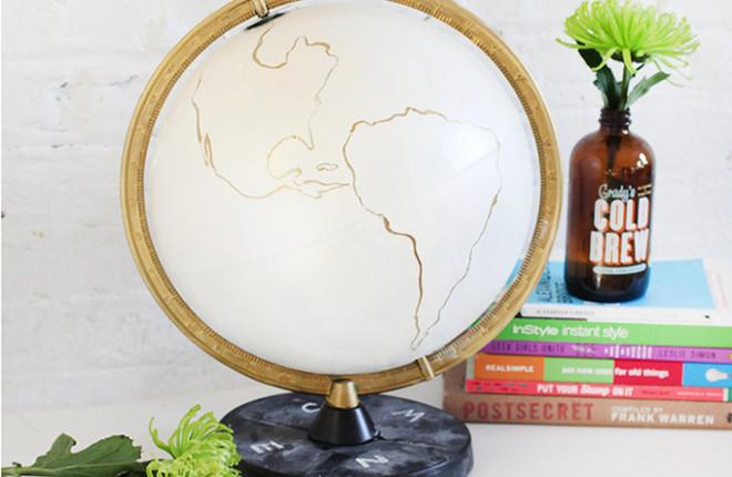 MY DIY | Gold & Chalkboard Globe