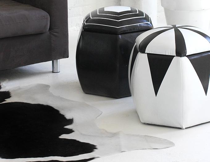 MY DIY | Black & White Poufs