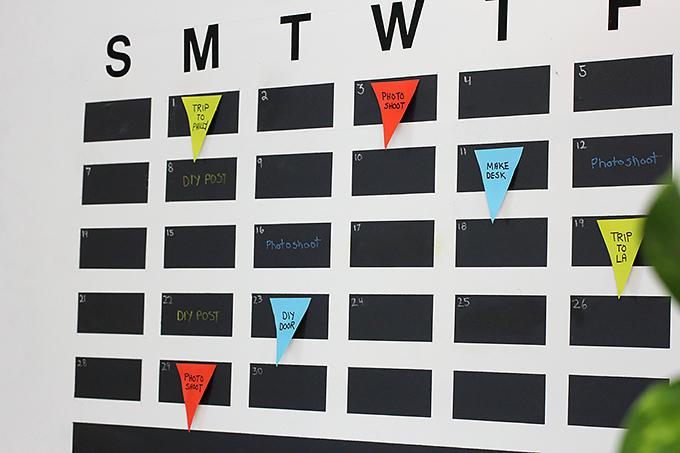 » MY DIY | Chalkboard Tape Wall Calendar