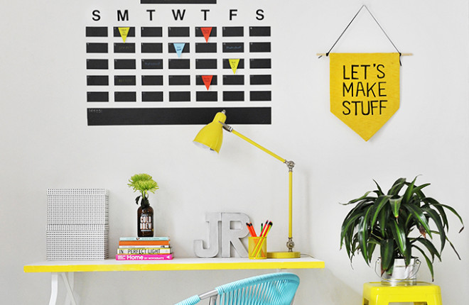 MY DIY | Chalkboard Tape Wall Calendar