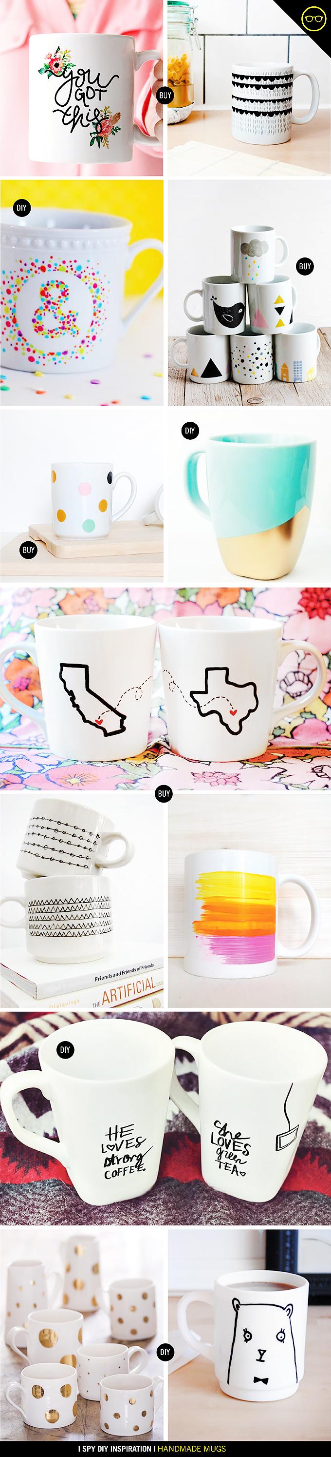 DIY INSPIRATION   Handmade Mugs   I Spy DIY   Bloglovin'