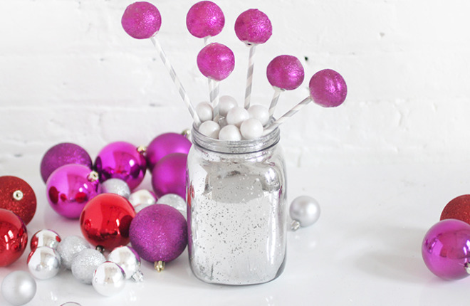 Holiday DIY | Ball Drop Cake Pops