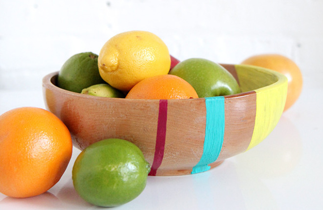 HOME DIY | Colorblock Fruit Bowl