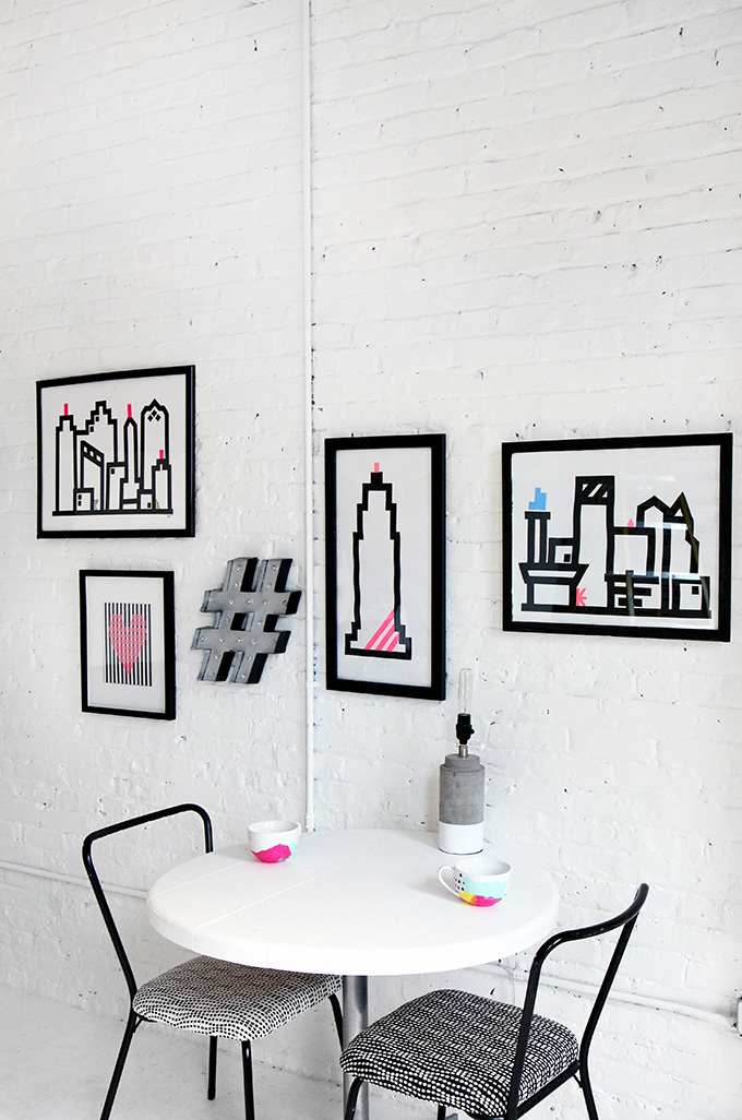 sc 1 st  I Spy DIY & HOME DIY | Washi Skyline Wall Art