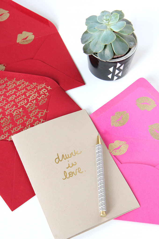 » my diy  gold embossed mixtape message cards